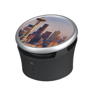 The Space Needle is a tower at dusk in Seattle Bluetooth Speaker