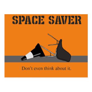The Space Saver Postcard