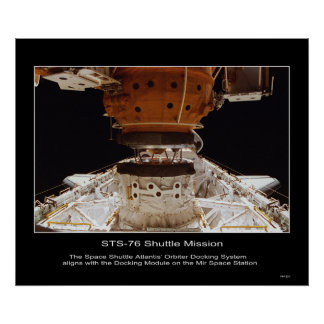 The Space Shuttle Atlantis' Orbiter Docking Mir Poster