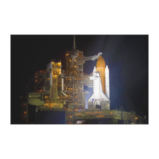 The Space Shuttle Discovery at Launch Pad 39A Canvas Print