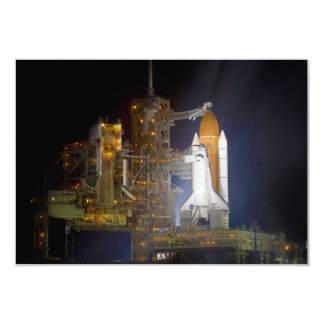 The Space Shuttle Discovery at Launch Pad 39A Card