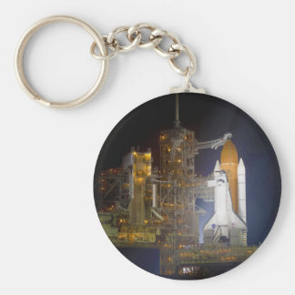 The Space Shuttle Discovery at Launch Pad 39A Keychain