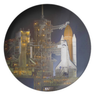 The Space Shuttle Discovery at Launch Pad 39A Melamine Plate
