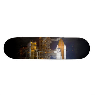 The Space Shuttle Discovery at Launch Pad 39A Skateboard Deck