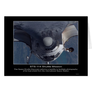 The Space Shuttle Discovery performs a backflip Card