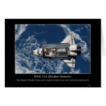 The Space Shuttle Discovery rendezvous and docking Greeting Card