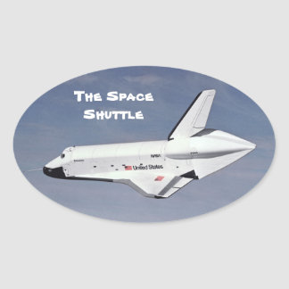 The Space Shuttle Oval Sticker