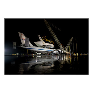 The Space Shuttle Piggybacks Print