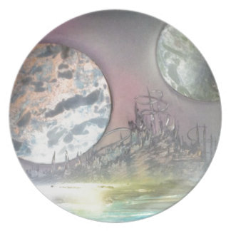 The Space Station Melamine Plate