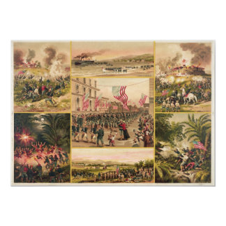 """The Spanish American War by Hoover 5"""" X 7"""" Invitation Card"""