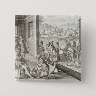 The Spanish Capture Fort Caroline, 1565, from 'New Pinback Button