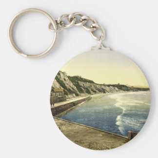 The Spanish coast Biarritz Pyrenees France clas Keychain