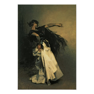 The Spanish Dancer, study for 'El Jaleo', 1882 Poster