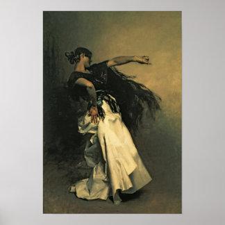 The Spanish Dancer, study for 'El Jaleo', 1882 Poster