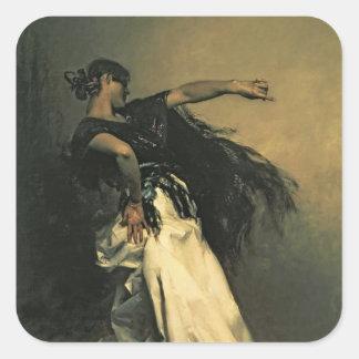 The Spanish Dancer, study for 'El Jaleo', 1882 Square Sticker