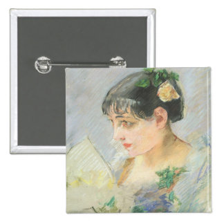 The Spanish Woman (pastel on paper) 2 Inch Square Button