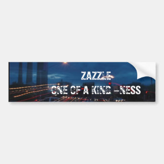 THE SPARK OF : ZAZZLE ONE OF A KIND -NESS CAR BUMPER STICKER