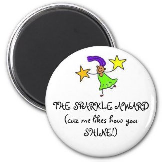THE SPARKLE AWARD(cuz me likes how y... Magnet