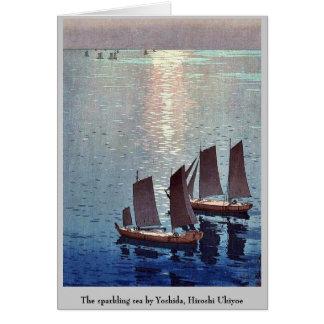 The sparkling sea by Yoshida, Hiroshi Ukiyoe Stationery Note Card