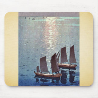 The sparkling sea by Yoshida, Hiroshi Ukiyoe Mouse Pad