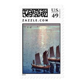 The sparkling sea by Yoshida, Hiroshi Ukiyoe Postage Stamp