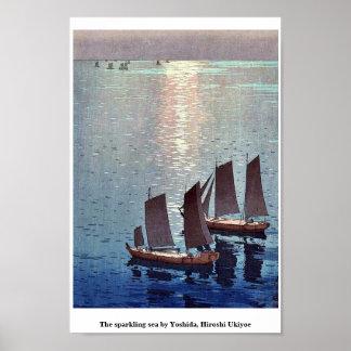 The sparkling sea by Yoshida, Hiroshi Ukiyoe Poster