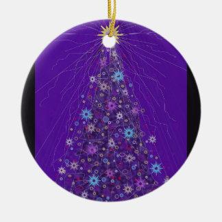The Sparkling Xmas Tree. Ceramic Ornament