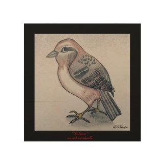 The Sparrow...wood wall art
