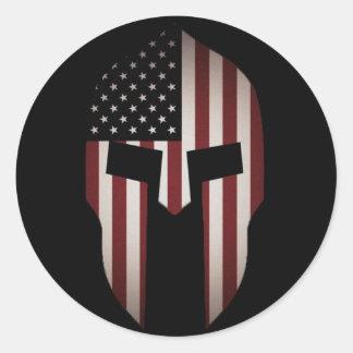 The Spartan USA Classic Round Sticker