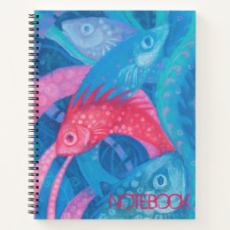 The Spawning, Fish, Pink & Blue, Underwater Notebook