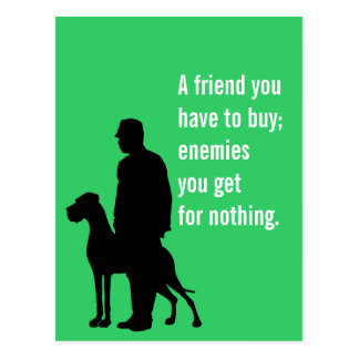 The special Dog friend Postcard