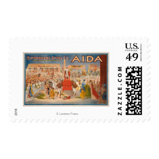The Spectacle Aida Theatrical Poster Postage