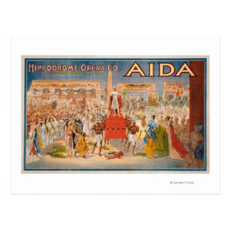 The Spectacle Aida Theatrical Poster Postcard