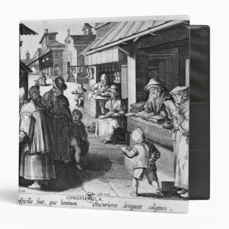 The Spectacles Seller, engraved by Jan Collaert Binder