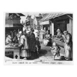 The Spectacles Seller, engraved by Jan Collaert Postcards