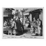 The Spectacles Seller, engraved by Jan Collaert Posters