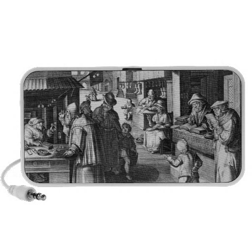 The Spectacles Seller, engraved by Jan Collaert Laptop Speaker