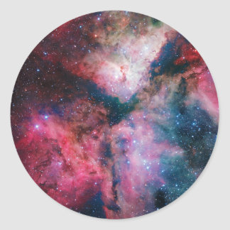 The spectacular star-forming Carina Nebula Classic Round Sticker