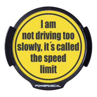 """The speed limit"" yellow traffic warning sign, LED Window Decal"