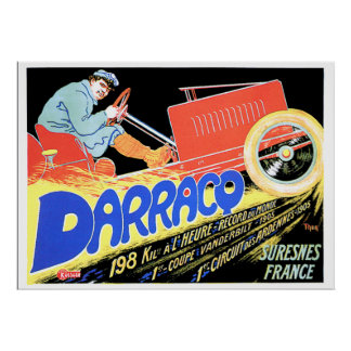 The Speed Record Holder Darracq Poster