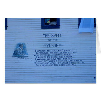 The Spell of the Yukon Poem Notecard Greeting Cards
