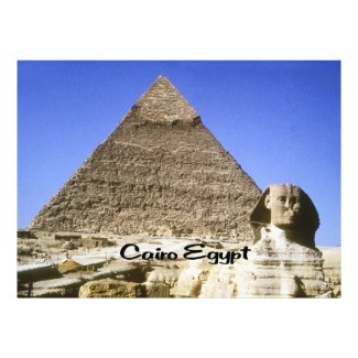 The Sphinx and Pyramid Photo Print