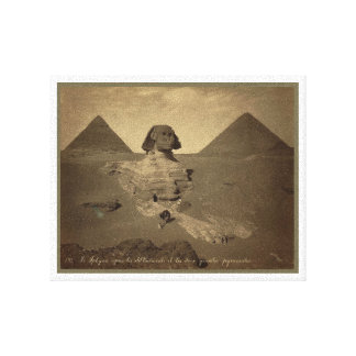 The Sphinx and Pyramids in Egypt circa 1867 Canvas Print