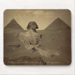 The Sphinx and Pyramids in Egypt circa 1867 Mouse Pad