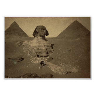 The Sphinx and Pyramids in Egypt circa 1867 Poster