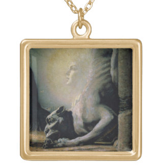 The Sphinx and the Chimera, 1906 (oil on canvas) Gold Plated Necklace