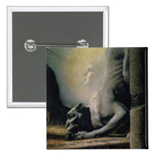 The Sphinx and the Chimera, 1906 (oil on canvas) Pinback Button