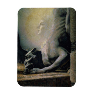 The Sphinx and the Chimera, 1906 (oil on canvas) Rectangular Photo Magnet