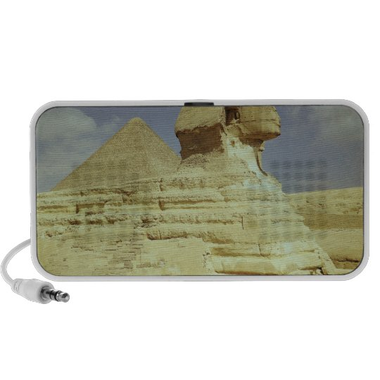 The Sphinx and The Great Pyramid of Khufu Portable Speaker