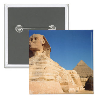 The Sphinx and The Pyramid of Khafre, Giza Pinback Button